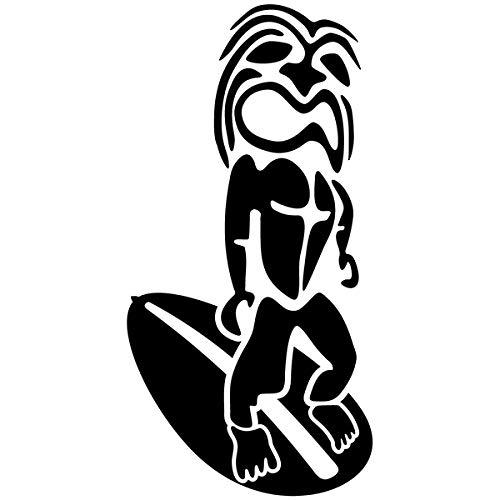 Pegatina Promotion Tiki Figur Maori Surfer Typ 4 20 cm Aufkleber Sticker Autoaufkleber Wandtattoo Surf Kite Surfen Wassersport Fun Sea