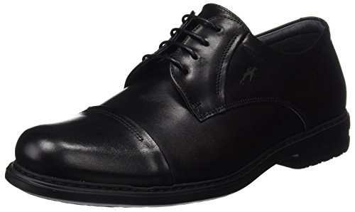 Fluchos | Zapato de Hombre | Simon 8468 Natural Negro Zapato Confort | Zapato de Piel de Vacuno de Primera Calidad | Cierre con Cordones | Piso Personalizado Fluchos Light