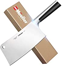 Mueller 7-inch Meat Cleaver Knife, Stainless Steel Professional Butcher Chopper, Stainless Steel Handle, Heavy Duty Blade for Home Kitchen and Restaurant