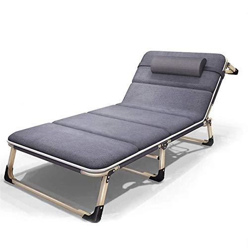 Klassische Liegestühle Sonnenliege/Klappbett Zero Gravity Lounge Chair Office Home Bed Heavy Duty Einstellbare für Patio Pool im Freien Garten Strände Unterstützt 200kg【Upgrade】, Sunlounger