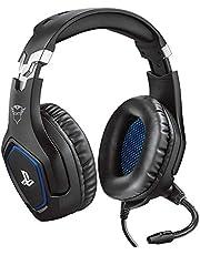 Trust Gaming GXT 488 Forze [oficjalnie licencjonowany dla PS4] zestaw słuchawkowy do gier Playstation 4 z elastycznym mikrofonem i pilotem Inline - czarny