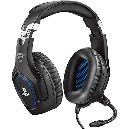 Trust Gaming GXT 488 Forze [Officially Licensed for PS4] Gaming Headset for Playstation 4 with Flexible Microphone and Inline Remote Control - Black
