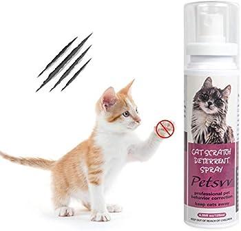 Petsvv Spray Dissuasif pour Les Chats, Spray Repoussant Pulvérisateur Éducateur pour Chat Sécurité et Sain, 120 ML