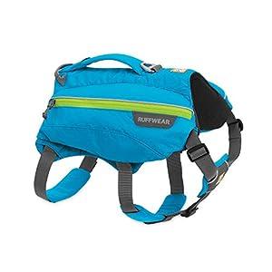 RUFFWEAR, Singletrak Dog Pack, Hiking Backpack with Hydration Bladders, Blue Dusk, Small