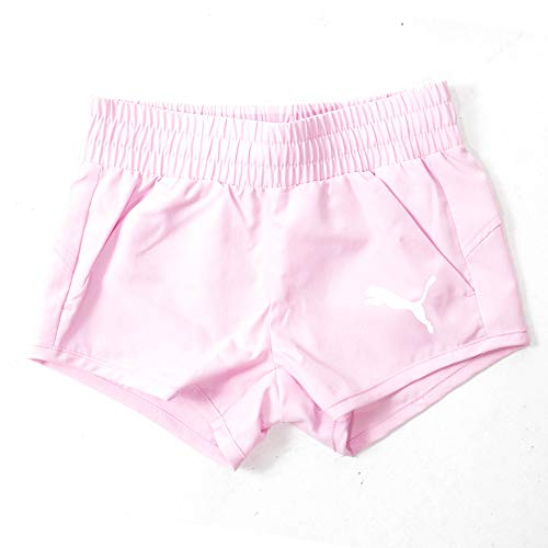 PUMA Active Dry Essential Woven Kids Girls Sport Summer Holiday Short Rosa rosa 5-6 Anni