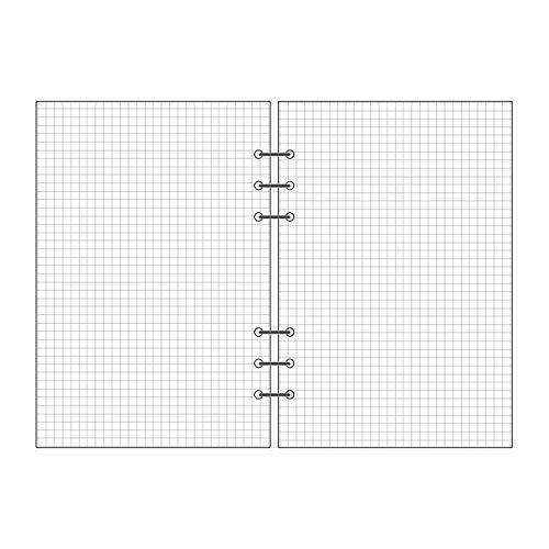 6 Loch-Einlagen für mobile Blätter mit beweglichen Blättern im Notizblock A5 A6 A7 Notizblock