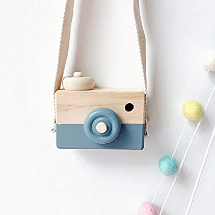 LKHF Cute Nordic Hanging Wooden Decorative Camera Toys Room Ornaments Decorative Camera Toys Children Gifts