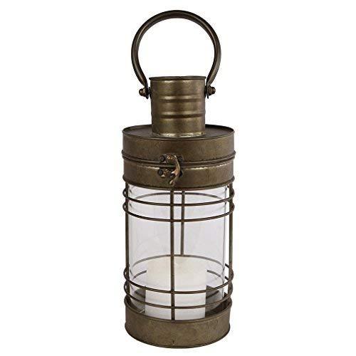 Laterne - Windlicht Metall mit Glas - Garten-Deko Shabby Schiffslaterne. Von Haus der Herzen®
