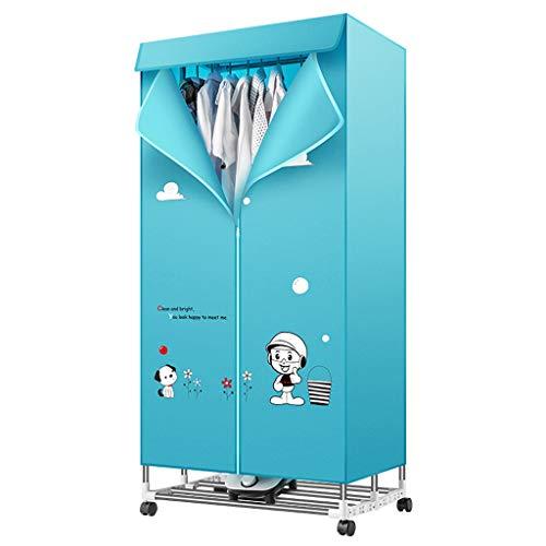 Secador de alta potencia, Secadora de ropa, Tipo de armario plegable Calefacción eléctrica de Ptc Soporte de tubo de acero inoxidable Capacidad de dos capas Tiempo ajustable con cubierta de tela Oxfor