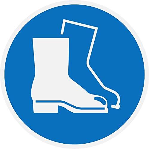 Panel de PVC de 5 mm, 15 x 15 cm, puerto de los zapatos de seguridad obligatorio azul