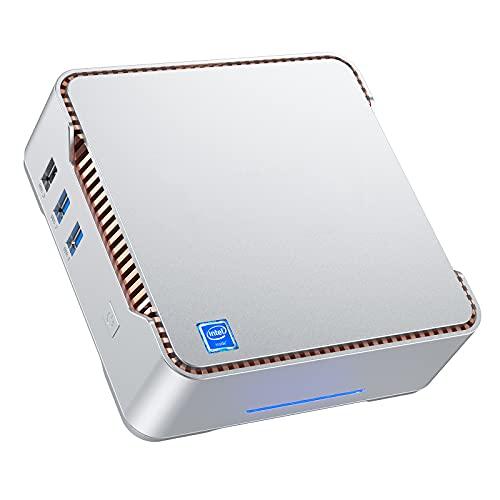 NiPoGi Mini PC,Windows 10 Pro 4GB RAM 64GB ROM Ordenadores de sobremesa, Soporte WiFi de banda dual, Pantallas triples HDMI+VGA duales, Gigabit Ethernet, BT4.2,Micro para negocios,...