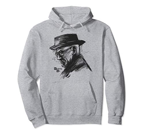 Breaking Bad Heisenberg Sketch Side Portrait Pullover Hoodie