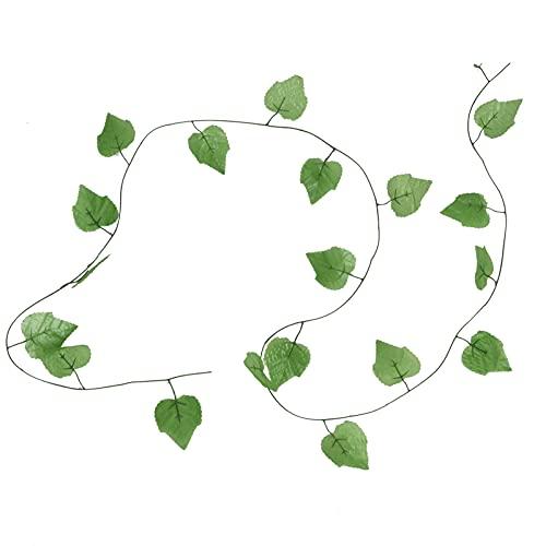 SALUTUY Ratán de Hoja de UVA Artificial, tecnología de inyección Mejorada Hecha de Seda Patrón de Hoja Transparente Decoración de Columpio de jardín para Oficina para Accesorios de fotografía