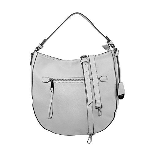 Glüxklee Damen Handtasche Tasche (Hellgrau)