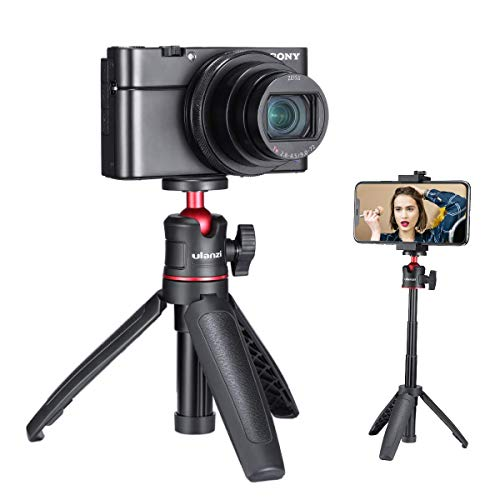 ULANZI Select MT-08 Mini Smartphone Selfie Stick Tripod for iPhone, Camera Extendable Handle Grip Vlog Pole for Sony RX100 VII M1 M2 M3 M4 M5 M6 A6400 A6500 Canon G7X Mark III