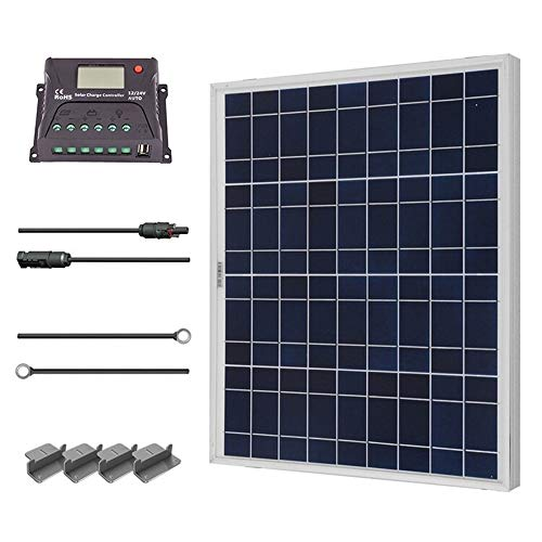 Renogy 50 Watt 12 Volt Polycrystalline Home Solar Power Kit