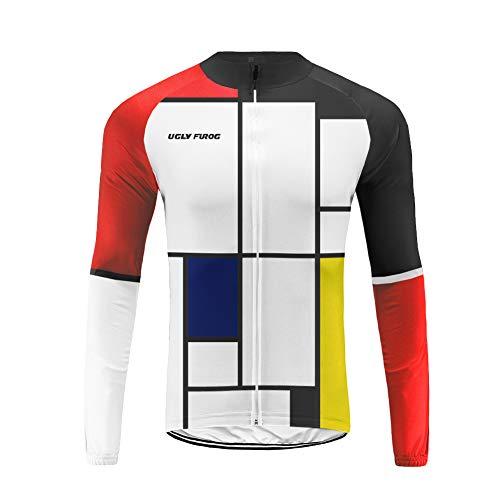 Uglyfrog Vélo Maillot Manches Longues VTT pour Cyclisme Homme Printemps Automne
