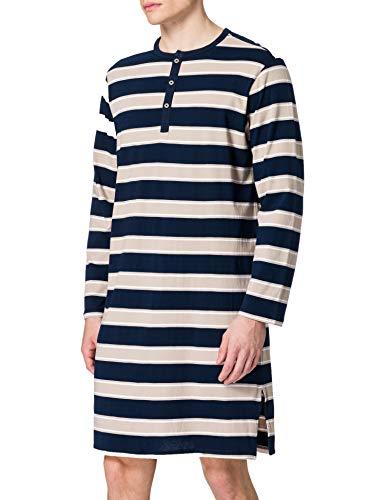 Schiesser Herren Nachthemd lang Pyjamaoberteil, beige, 52