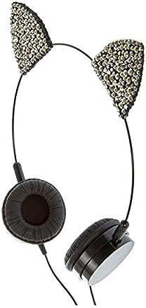 2fda190ac1a Claire's Girl's Hematite Cat Ear Headphones