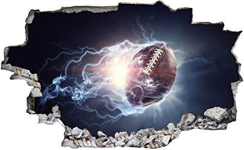 DesFoli American Football Ball Abstrakt Wandtattoo Wandsticker Wandaufkleber C2983 Größe 70 cm x 110 cm