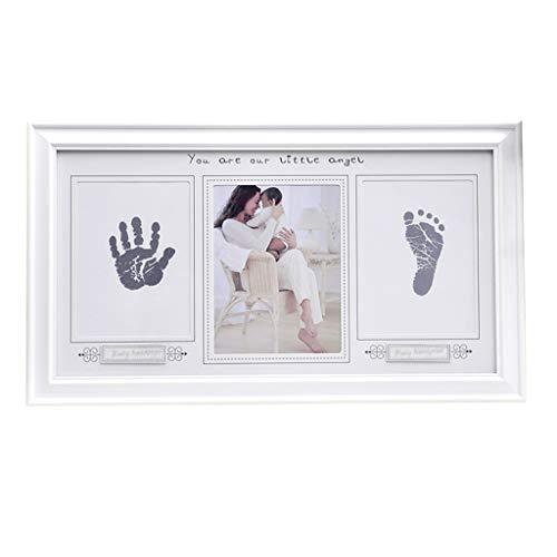 Z-Life Kinder Handprint Kit-Abdruck-Foto-Rahmen for Neugeborene Mädchen Jungen Kinder Dusche Geschenke Dekorationen for Schlafzimmer Wohnzimmer Bild-Anzeige