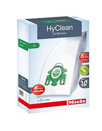 Miele Hyclean 3D U Series Bags and Filter Set (Pack of 4 Plus 2)