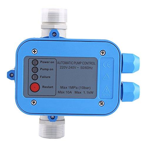 Controlador de bomba, controlador de presión de bomba de agua automático Presostato 10 bar régulateu R de presión (sin cable y manómetro)