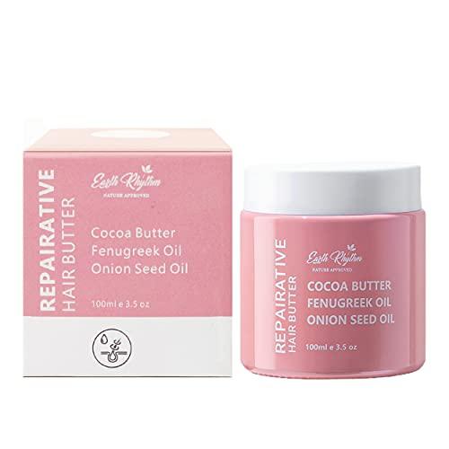 Earth Rhythm Onion, Fenugreek & Cocoa Hair Butter, For Hairfall & Regrowth – 100 GM