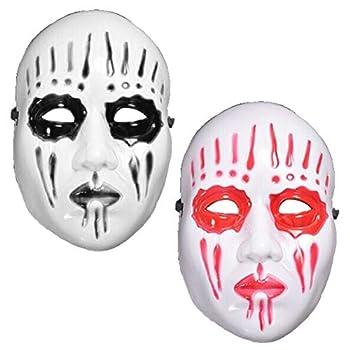 Slipknot Band Joey Mask for Halloween Cosplay Party Costume Props Joker Prank Mask Red  Black