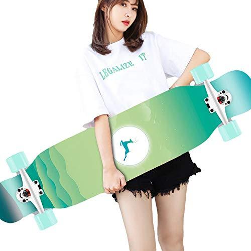 Monopatín de Longboard 42 ', monopatín Completo 8-caply Maple Concave Cruiser, para Adolescentes Adultos Principiantes Chicas niños-B_42 Pulgadas