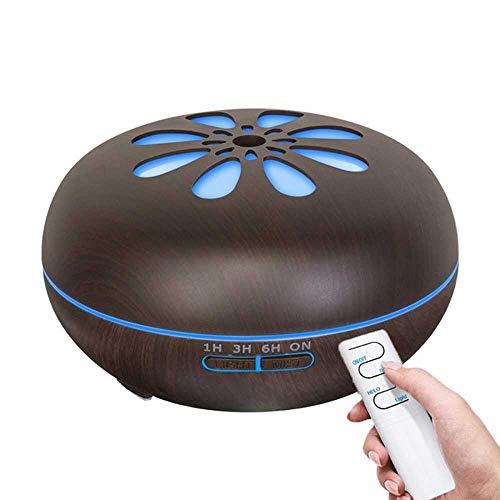 YSNMM Luchtbevochtiger, zonnebloemenaroma diffuser met etherische oliën en 7-kleuren nachtlampjes voor thuis of op kantoor