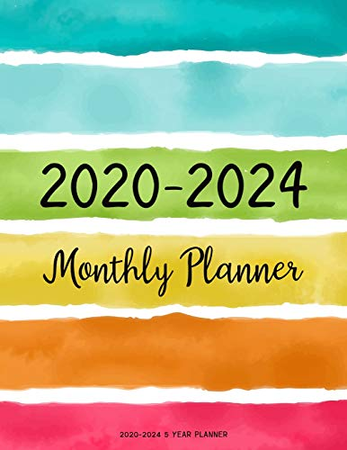 2020-2024 5 year planner: Monthly Schedule Organizer Planner For To Do List Academic Schedule Agenda Logbook Or Student Teacher Organizer Journal Notebook Business Appointment W/ Holidays | Paint Line