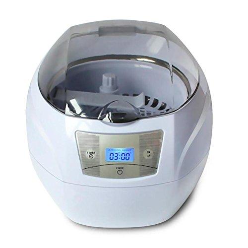 BVC Pulitore Ad Ultrasuoni Digitale A LED Professionale Pulizie Di Gioielli, Occhiali, Anelli, Orecchini, Braccialetti(750 ML)