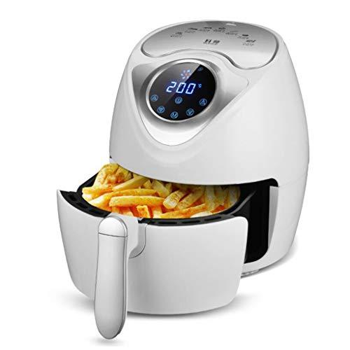 ALYR Air Fryer Ofen, Heißluft Fritteuse Programmierbar Pizza Pan Timer Fritteuse mit Temperaturkontrolle und Automatische Abschaltung,White