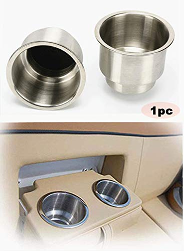 Marine RV Camper Boot Edelstahl Getränkehalter Getränkehalter mit Abfluss, Außendurchmesser Außendurchmesser: 11,4 cm, Innendurchmesser: 7,9 cm, Höhe 10,2 cm, 1 Pc
