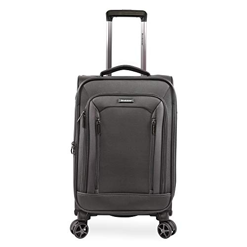 Brookstone Luggage Elswood Spinner Suitcase, Dark Charcoal, Carry-on (21-Inch)
