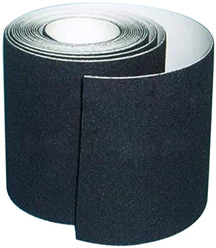 Anti-Rutsch-Klebeband, hohe Traktion, hinterlässt keine Kleberückstände, beste Griffigkeit, Reibung, Abrasivkleber für Treppen, Sicherheit, Trittstufe, Indoor, Outdoor,, schwarz