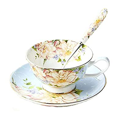 Vintage Fine Bone China Tea Cup Spoon and Saucer Set