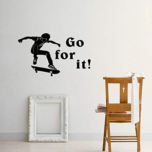 Kinderen Sport Skateboard muur Stickers Vinyl Home Decoratie Children's Slaapkamer Home Decoratie Stickers