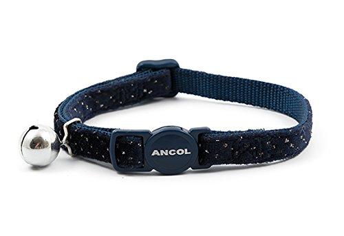 Ancol Velvet Sparkle Sicherheitshalsband für Katzen, Marineblau