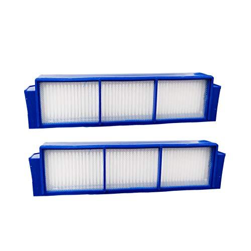 Hannets 2 Hochwertige Ersatzfilter kompatibel mit Philips FC8792, FC8794 und FC8796 I Philips Filter Roboterstaubsauger I Philipps Zubehör Saugroboter Ersatzset Nr. P-blau-2F