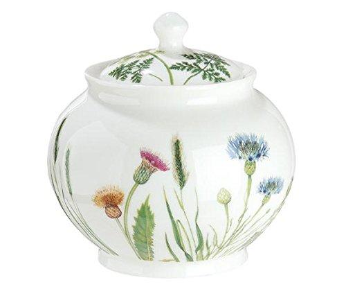 GILDE Zuckerdose Wilde Blumewiese Wild Flower Shabby Landhaus Porzellan