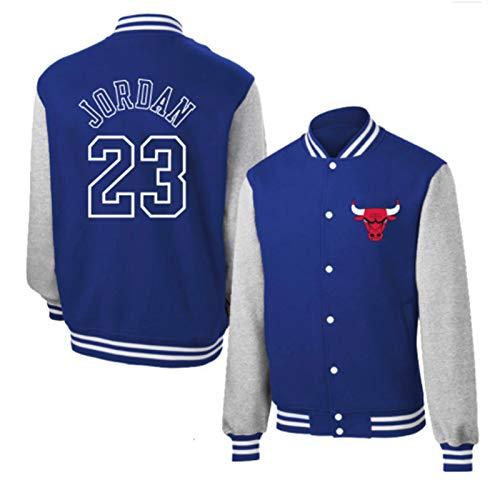 LCSA Jordann - Chaqueta de baloncesto para hombre Buìs 23 # Clásica camiseta de baloncesto Uniforme de béisbol para deporte y ocio, color azul