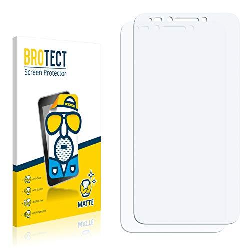 BROTECT 2X Entspiegelungs-Schutzfolie kompatibel mit Alcatel Pixi 4 (5.5) Bildschirmschutz-Folie Matt, Anti-Reflex, Anti-Fingerprint