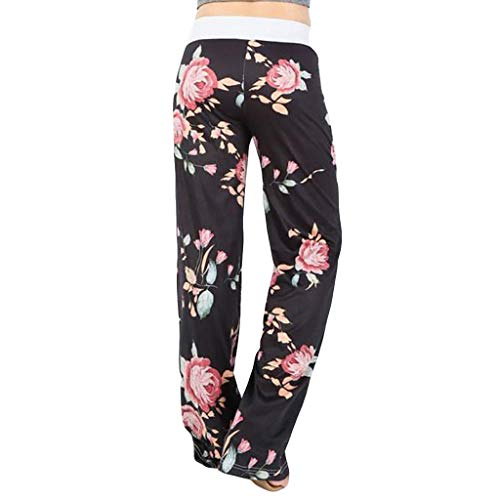 Great Features Of ANJUNIE Palazzo Pajama,Womens Comfy Stretch Floral Print Trousers Drawstring Wide ...