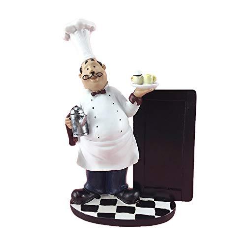 24cm Hars Snor Chef Prikbord Beeldjes Creatieve Kleine Schoolbord Restaurant Decoracion Geschenken