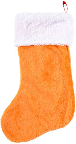Rhode Island Novelty Chstmas Orange Plush Faux Fur Tm 16 Inch Classic Stocking, One Size, As As Featured