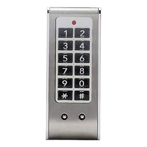 Cerradura codificada electrónica Acero inoxidable Digital sin llave Código inteligente Teclado Tarjeta Puerta Armario Armario Kit de seguridad para el hogar Cerradura de puerta de entrada