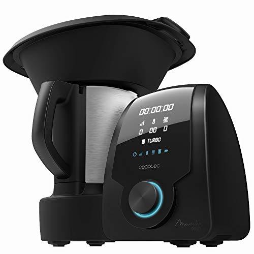 Cecotec Robot de Cocina Multifunción Mambo 9090, Cuchara MamboMix, Jarra Habana con revestimiento cerámico, 30 Funciones, Jarra de acero inox 3,3l apta para lavavajillas, Báscula incorporada, Cestillo