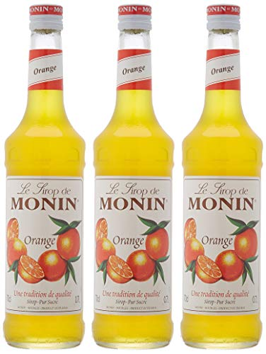 Monin Sirope Naranja - Paquete de 3 x 700 ml - Total: 2100 ml